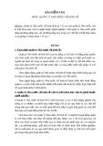 Bài kiểm tra môn học Quản lý nhà nước về kinh tế
