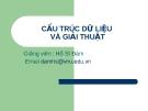 Bài giảng Cấu trúc dữ liệu và giải thuật - GV. Hồ Sĩ Đàm