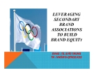 Thuyết trình: Leveraging secondary brand associations to build brand equity