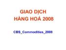 Thuyết trình: Giao dịch hàng hoá 2008