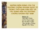 Thuyết trình: Những biến động của thị trường chứng khoán quốc tế trong thời gian gần đây và tác động đến thị trường chứng khoán Việt Nam