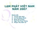 Tiểu luận tài chính quốc tế: Lạm phát Việt Nam năm 2007