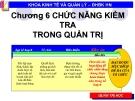 Bài giảng Quản lý đại cương: Chương 6 - ĐH BK Hà Nội