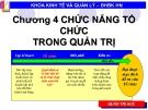 Bài giảng Quản lý đại cương: Chương 4 - ĐH BK Hà Nội