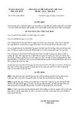 Quyết định 37/2013/QĐ-UBND tỉnh Nam Định