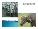 Hiệp định SPS trong lĩnh vực thú y