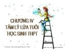 Bài giảng Tâm lý học 2: Chương 4 - GV Nguyễn Xuân Long