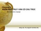 Bài giảng Cơ sở dữ liệu: Chương 5 - ThS. Nguyễn Thị Khiêm Hòa (ĐH Ngân hàng TP.HCM)