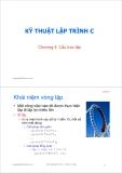 Bài giảng Kỹ thuật lập trình C: Chương 4 - ThS. Trần Quang Hải Bằng