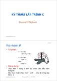 Bài giảng Kỹ thuật lập trình C: Chương 3 - ThS. Trần Quang Hải Bằng