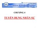 Bài giảng Quản trị nguồn nhân lực: Chương 4 - TSKH. Phạm Đức Chính