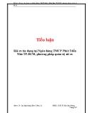 Tiểu luận: Rủi ro tín dụng tại Ngân hàng TMCP Phát Triển Nhà TP.HCM, phương pháp quản trị rủi ro