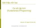 Giới thiệu môn học Cơ sở Lập trình - ThS. Nguyễn Thị Khiêm Hòa