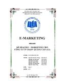Tiểu luận: Kế hoạch E – MARKETING cho công ty CP TM-DV quảng cáo ATA