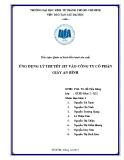 Tiểu luận Quản trị kinh điều hành sản xuất: Ứng dụng lý thuyết JIT vào công ty cổ phần giấy An Bình