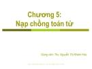 Bài giảng Cơ sở lập trình máy tính: Chương 5 - ThS. Nguyễn Thị Khiêm Hòa