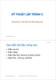 Bài giảng Kỹ thuật lập trình C: Chương 6 - ThS. Trần Quang Hải Bằng