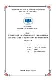 Tiểu luận quản trị sản xuất điều hành: Ứng dụng lý thuyết độ tin cậy và bảo trì tại nhà máy sản xuất bộ thu công ty TNHH Sonion Việt Nam