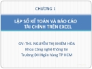 Bài giảng Tin học ứng dụng: Chương 1 - ThS. Nguyễn Thị Khiêm Hòa