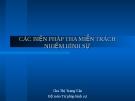 Bài giảng Các biện pháp tha miễn trách nhiệm hình sự - Chu Thị Trang Vân