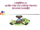 Bài giảng môn Quản trị doanh nghiệp: Chương 6 - ThS. Nguyễn Thị Hương (ĐH Công nghiệp TP.HCM)
