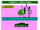 Bài giảng Luật Hình sự Việt Nam: Chương X - ThS. Trần Đức Thìn