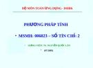 Bài giảng Phương pháp tính: Chương 0 - TS. Nguyễn Quốc Lân