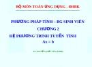 Bài giảng Phương pháp tính: Chương 2 - TS. Nguyễn Quốc Lân