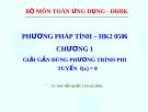 Bài giảng Phương pháp tính: Chương 1 - TS. Nguyễn Quốc Lân