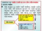 Bài giảng Luật Hình sự Việt Nam: Chương VIII - ThS. Trần Đức Thìn