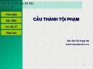 Bài giảng Cấu thành tội phạm - Chu Thị Trang Vân