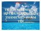 Bài giảng Luật Hình sự Việt Nam: Chương XVI - ThS. Trần Đức Thìn