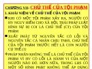 Bài giảng Luật Hình sự Việt Nam: Chương VII - ThS. Trần Đức Thìn