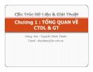 Bài giảng Cấu trúc dữ liệu và giải thuật: Chương 1 - GV. Nguyễn Minh Thành