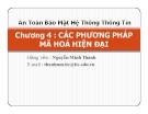 Bài giảng An toàn bảo mật hệ thống thông tin: Chương 4 - GV. Nguyễn Minh Thành