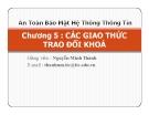 Bài giảng An toàn bảo mật hệ thống thông tin: Chương 5 - GV. Nguyễn Minh Thành