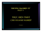 Bài giảng Thương mại điện tử: Phần 5 - Thái Thanh Sơn