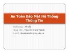 Giới thiệu môn học An toàn bảo mật hệ thống thông tin - GV. Nguyễn Minh Thành