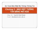 Bài giảng An toàn bảo mật hệ thống thông tin: Chương 3 - GV. Nguyễn Minh Thành