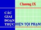 Bài giảng Luật Hình sự Việt Nam: Chương 9 - ThS. Trần Đức Thìn
