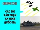 Bài giảng Luật Hình sự Việt Nam: Chương 17 - ThS. Trần Đức Thìn