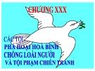 Bài giảng Luật Hình sự Việt Nam: Chương 30 - ThS. Trần Đức Thìn