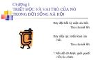 Bài giảng Triết học: Chương 1 - ĐH Ngân hàng TP.HCM