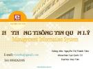 Bài giảng Hệ thống thông tin quản lý: Chương 1 - GV. Nguyễn Thị Thanh Tâm (ĐH Duy Tân)