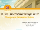 Bài giảng Hệ thống thông tin quản lý: Chương 4 - GV. Nguyễn Thị Thanh Tâm (ĐH Duy Tân)
