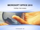 Bài giảng Microsoft office 2010 - Võ Hà Quang Định
