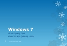 Bài giảng Windows 7 -  Võ Hà Quang Định
