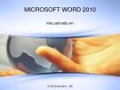 Bài giảng Microsoft word 2010 - Võ Hà Quang Định