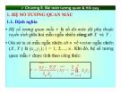 Bài giảng Xác suất & thống kê đại học - Chương 8: Bài toán tương quan và Hồi quy