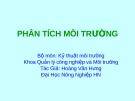 Bài giảng Phân tích môi trường - Hoàng Văn Hưng